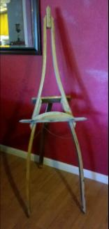 Wine Barrel Stave Art Easel