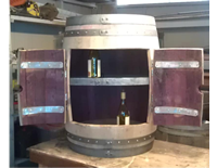 Wine Barrel Cabinet Double Door