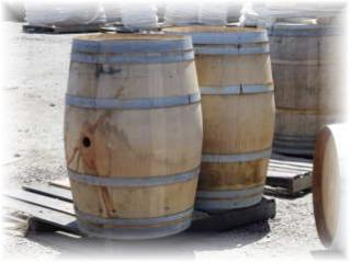 Reclaimed Recycled Green Old Oak Used Wine Barrels from Napa Valley for sale