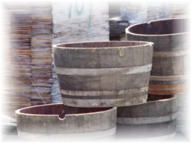Planter Barrels - Half cut Planter barrels Wine Barrels - www.usedwinebarrels.com