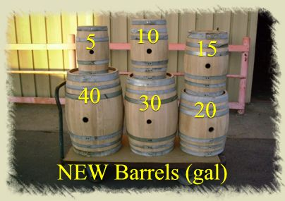 NEW Wine Barrels